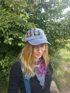 Festival hat with patches